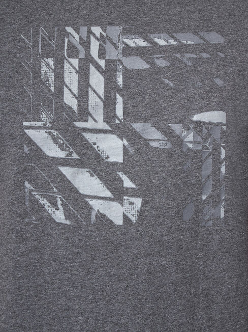 Angus Print Crew Tee, Grey, hi-res