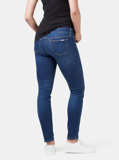 Maternity Skinny Jeans Bright Vintage, Mid Indigo, hi-res